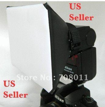 Universal Foldable Flash Diffuser Soft Box for all Flash speedlight Unit Camera Lens Hoods