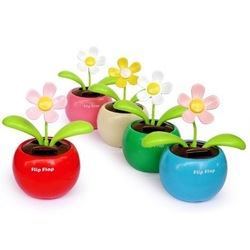 Solar Powered Swing Solar Flower,Magic Cute Flip Flap , Plant Swing Solar Toy Free Shipping(China (Mainland))