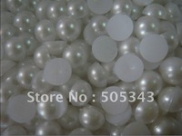 8mm ABS imitation pearls flatback half round imitation pearl Half round Pearl Bead 10000pcs/lot  crystal color free shipping