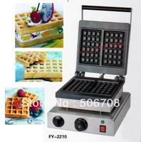 free shipping~with recipe for square type of waffle maker, 110V /220v waffle machine/Snacks machines of cake baker/