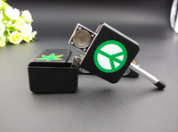 Free shipping 1pcs MINI Magic Pipe Metal Smoking Pipe Tabacco Pipe GT 6012 Three Designs Same Size With Common Oil Lighter