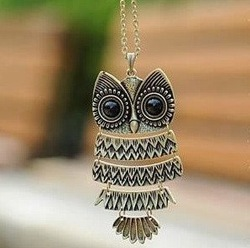 Fashion Vintage Bronze Cute Owl Necklaces With Big Eye Pendant Necklaces Free shipping Min.order $15 mix order NE67051(China (Mainland))