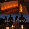 12X Rechargeable Flameless LED Tea Candle Light with Votives+adaptor options