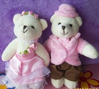 Promotional gift plush toys doll wedding sit pairs wedding teddy bear keychain and for bags 8pairs/lot