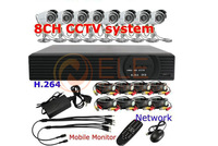"8CH H.264 CCTV DVR 8 pcs 1/3"" SONY CCD cameras Network 3G phone view cctv system,HDMI,CCTV DVR WITH HDMI"