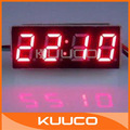 DC 7-30V Red LED Clock 12V Electric Vehicles Digital Car Clock Watch Time #090773