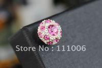 100pcs/lot  Free shipping,Fashion diamond dust plug headphones crystal dust cover diamond For iPhone iPAD IF-0191