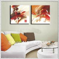 Free Shipping !!!  New Arrivals Handmade Modern  Canvas Oil Painting Wall Art  -Ballerinas  zsh2p001
