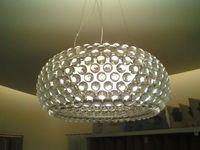 New Bedroom Acrylic Kitchen House 50cm Foscarini Caboche Ball Pendant Lamp Bead light include bulb