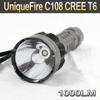 5pcs/lot,UniqueFire C108 CREE T6 1000LM 5-Mode LED Flashlight Torch
