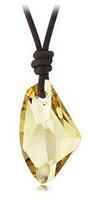Free Shipping GiftBag Hotsell wholesale Ax shape Wishing Stone big Irregular crystal Pendant Necklace Sweater chain jewelry 4100