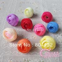 100p 3.5cm Artificial Silk Rose Camellia Peony Flower Heads for Christmas Wedding Bridal Flower Diy Brooch Baby Headwear Ring