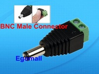 100pcs/lot 5.5/2.1mm CCTV DC Power Plug Male Jack Connector Camera Video Balun Connector for Camera