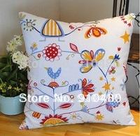 latest print cotton cushion cover canvas cotton cushion pillow case free shipping