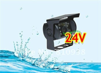 Factory selling 24V car reversing backup rear view camera car camera for bus truck etc. with night vision