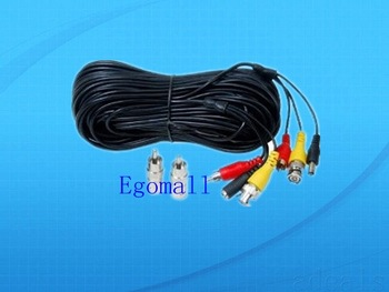 2 x 50 feet CCTV Security Camera Audio Video Power Cables with Free RNC RCA Adapter