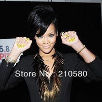 2012NEW Punk Rivets HIPHOP Silver Super Big Chain Necklaces Clubbing JAZZ DS Nightclub Fashion Women's Necklaces Men's Necklaces