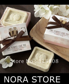 XMAS GIFT loving  owl guest soap Wedding Favours Gifts S12