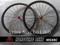 38mm carbon clincher wheel,road racing bike wheels 700c