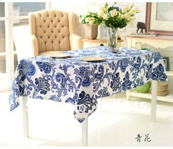 Free Shipping Hot selling Linen cotton Chinese art printing tablecloth 140x220cm Table cover table cloth China flower(China (Mainland))