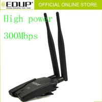 Free Shipping EDUP EP-MS1539 300Mbps 802.11n/b/g Wireless-N Double antenna signal High Gain USB Wifi Lan network card adapter