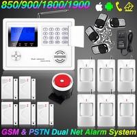 Wireless Home GSM PSTN Telephone Security Burglar Alarm System + Gas CO Sensor smart home