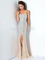rhinestone crystal beaded evening dress