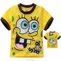 Free shipping SpongeBob children&#39;s  T shirt  thin style for summer for retail