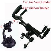"3 in 1 set car air vent holder + car window holder, adjustable size from 10-20cm work for 7-10.1"" tablet"