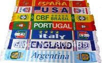 Mixed-order  velvet  cheer scarves,145cm*16cm soccer scarves,neckcloth for cheer,fleece Netherlands  soccer scarf,100pcs