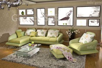 Best Selling Leather Sofa Model, Discount Sofa, Competitve Price, Nice Sofa Design