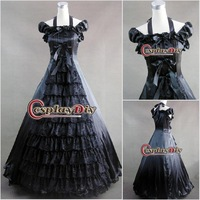 Hosale Black Lace Gothic Clothing Lolita Dress Cosplay Costume