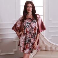 Temptation sexy nightgown emulation silk ladies pajamas household to take mandarin duck