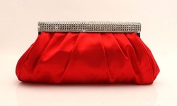 Free shipping,2012 Fashion Rhinestone Clutch Woman handbag,Wedding bags,Evening Bag,Ladies'party gift purse,Lady's silk cabas(China (Mainland))