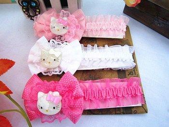 Freeshipping!! NEW Hello kitty bow headbands/ baby/kids lace headband / Hair wear/Hair Accessories/Fashion gifts/Wholesale