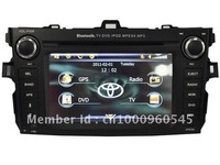 free shipping & for toyota corolla car gps car ipod bluetooth auto dvd player (black panel)