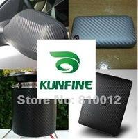 Free shipping!Hot selling sticker !Size :50cm*150cm /Sheet Black color 3D Carbon Fiber Vinyl film ,wrap  KF7000