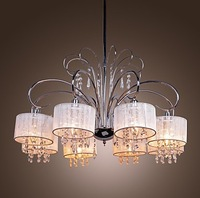 Contemporary Crystal Chandelier with 8 Lamp Shade (Chrome Finish) Pendant Lights Ceiling Lights for 2013 new
