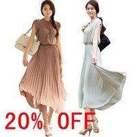 Free shipping Summer Vintage sleeveless wind Bohemia Chiffon Skirt Dresses women 20% discount