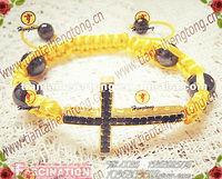 wholesale fashion sideways bracelet cross bracelet fahion bracelet cord bracelet special offer