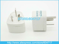 HK Post Free Shippig 3PCS/LOT 3 pins AU Adaptor Converter /Universal AC Power Plug Travel Adapter For Australia AU
