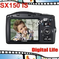 Original Canon PowerShot SX150 IS Digital Camera 12x Optical Zoom, 4x Digital Zoom,14MP Sensor Resolution Free Shipping!!!