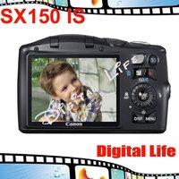 Original Canon PowerShot SX150 IS Digital Camera 12x Optical Zoom, 4x Digital Zoom,14MP Sensor Resolution Free Shipping!!!