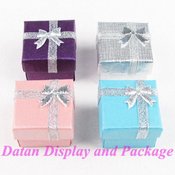 Wholesale 48 Paper Ring Display Box Jewellery Box Mixed Color(China (Mainland))