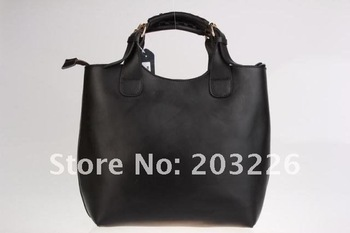 Hot sell from factory guarantee 100% genuine leather lady fashion handbag shoulder bags brand totes retail & wholesale