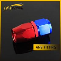 AN8 straight aluminium oil hose fitting adaptor reusable swivel hose end fitting adapter
