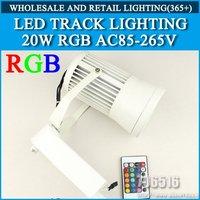 LED RGB Track Lighting Remote Control 20W RGB AC85-265V Free shipping/DHL