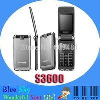 Swiss post free shipping Flip original mobile phone Samsung S3600 unlocked Refurbished cell phone free shipping