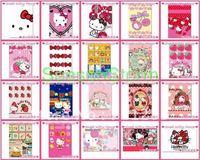 10 pcs/pack Cute Hello Kitty Cartoon PVC 6cmX9cm Card Stickers (SI-31)