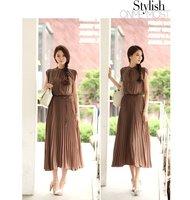 Fashion Summer Vintage sleeveless wind Bohemia Chiffon lady's Skirt  Dresses